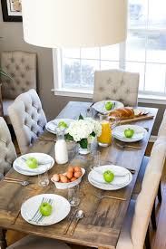 breakfast table how to build a rustic farmhouse dining table the home depot blog