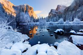 sunny winter day at mountains hd wallpaper