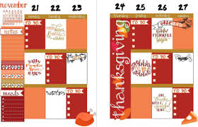 thanksgiving happy planner layout diary of a nostalgic dreamer