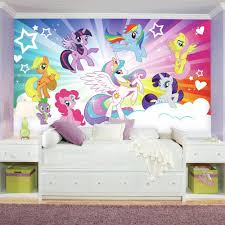 My Little Pony Bedroom Roommates 72 In X 126 In My Little Pony Cloud Xl Chair Rail