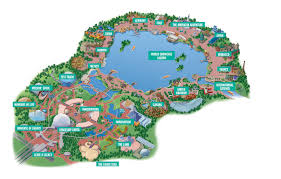 Florida Attractions Map Epcot Theme Park Experience The Magic Of Disney World