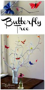 simple diy butterfly tree centerpiece butterfly tree nature