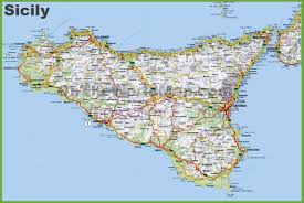 Map Of Genoa Italy by Large Detailed Road Map Of Sicily