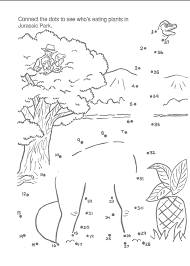 Printable Activity Book Image Jurassic Park A Big Color And Activity Book Connect The