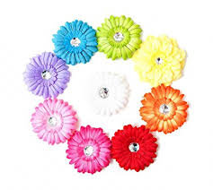 flower hair clip ema bling gerber flower hair