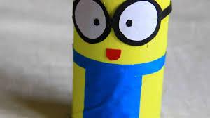 how to make a fun tissue roll minion diy crafts tutorial