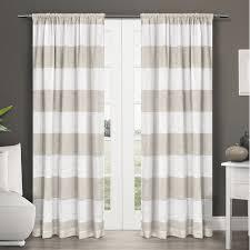 plant city striped sheer rod pocket curtain panels