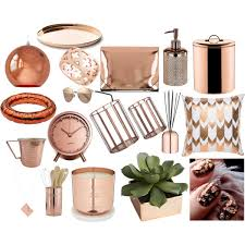 Gold Home Decor Accessories Rose Gold Polyvore