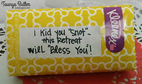 kleenex tissues as a favor for a women u0027s retreat love notes