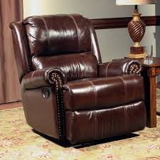 Leather Rocker Recliner Furniture Of America Gryphon Top Grain Leather Recliner Hayneedle