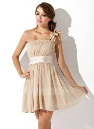 a linie princess linie eine schulter kurz mini chiffon - A Linie One Shoulder Trager Kurz Mini Chiffon Brautjungfernkleid Mit Drapiert P603