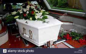 funeral casket funeral casket or coffin inside the hearse or at church chapel