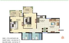 signature global orchard avenue affordable housing sector 93 floor plan