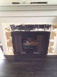 decoration white wall diy fake brick fireplace with frame and wood
