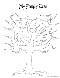 coloring cool family tree printable template 3 generation family