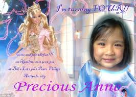 barbie princess invitation imikimi com