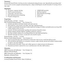 examples of social work resumes social work resume templates
