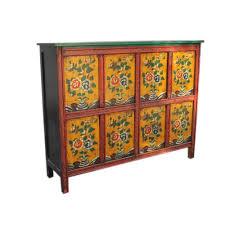 credenza tibetana credenza tibetana con dipinti otto sportelli 144x114x38 codice ma