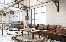 Popular Area Rugs Round Area Rug For Living Room With Leather Couch And Chairs And