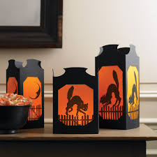 vellum halloween table lanterns martha stewart