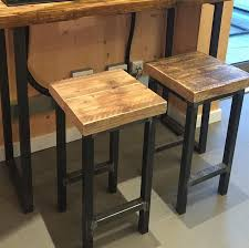 Reclaimed Wood Bar Stool Mill Style Reclaimed Wood Square Bar Stool