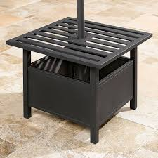 lowes outdoor side table umbrella stand side table gazebos umbrellas brylanehome for