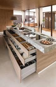 ilot central dans cuisine grands tiroirs dans l îlot central pour une cuisine moderne large