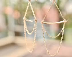 Chandelier Gold Earrings Gold Chandelier Etsy