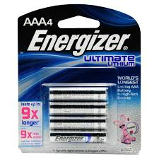 energizer ultimate lithium aaa battery pack of 4 walmart com