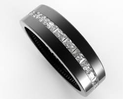 mens black wedding rings black gold baguette cut diamond wedding band for men vidar
