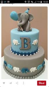 adorable blue elephant baby shower cake the perfect addition to