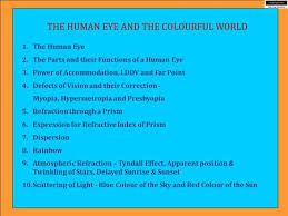 Anatomy Of Human Eye Ppt The Human Eye And Our Colourful World Ppt Video Online Download