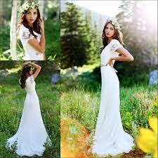 classic a line bridal gowns short sleeve lace wedding dress order
