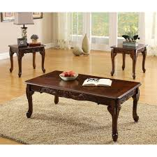 furniture of america cm4914 3pk cheshire coffee table set the mine