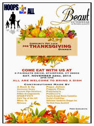 stamford downtown events community pot luck pre thanksgiving dinner