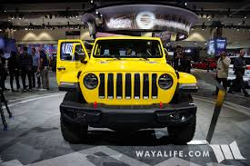 yellow jeep 2017 la auto show yellow jeep jl wrangler rubicon unlimited