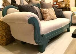 upcycled 1940 u0027s vintage victorian sofa mahogany wood distressed