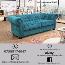 Ebay Chesterfield Sofa by Sofa Bed 3 Or 2 Seater Imperial Chesterfield Fabric