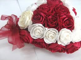 Valentine S Day Flower Decor by Heart Valentines Day Decor Royal Red White Paper Rose Love Heart