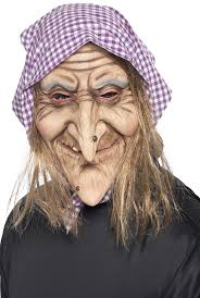 old people halloween masks smiffy u0027s old witch mask with hair and headscarf latex smiffys
