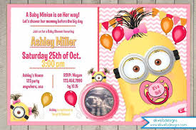 minion baby shower minion baby shower invitation template for pool party baby