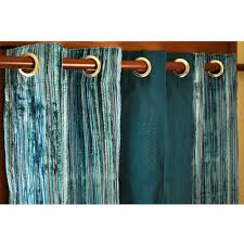 Peacock Curtains Teal Velvet Pin Stripes And Peacock Green Silk Curtain Panels