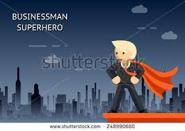 Superhero Backdrop Illustration Superman Superwoman Against Backdrop City Stock