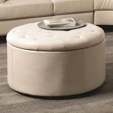 round tufted coffee table the best round tufted storage ottoman coffee table
