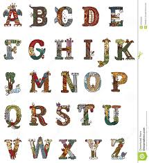 illuminated letters alphabet original style