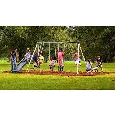 Park Flyers Backyard Flyers by Flexible Flyer Backyard Swingin U0027 Fun Metal Swing Set Walmart Com