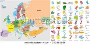 map of the countries european map all europe countries name stock vector 79064353