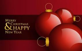 merry and happy new year greeting card photo and