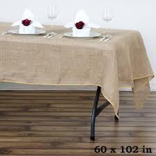 burlap table linens wholesale 60x102 wholesale natural tone chambury casa rustic burlap rectangle