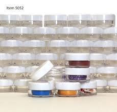 cosmetic jars plastic beauty containers 3 gram white cap sku
